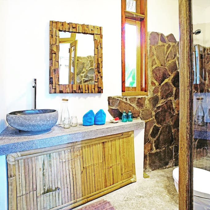 Your private Bathroom in a beautiful natural style.