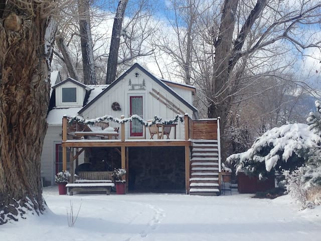 Private Tahoe COTTAGE with HOT TUB- we got SNOW! - Gardnerville - Kabin