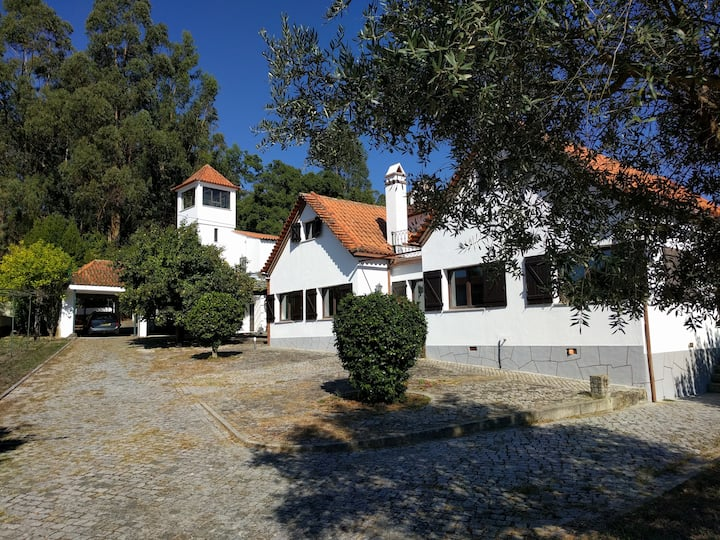 Villa for 10, pool, large garden, central Portugal