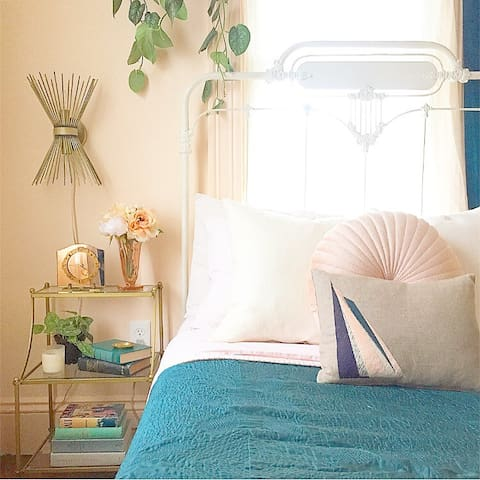 Sunny Bedroom near Beach, Airport, & Downtown
