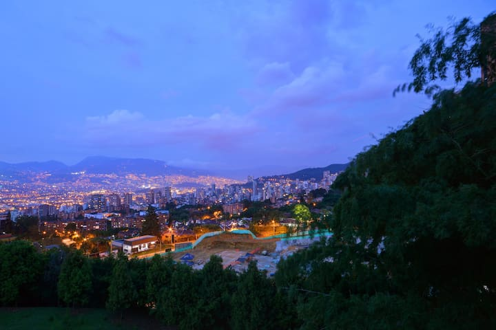 Sunset View Of Medellin