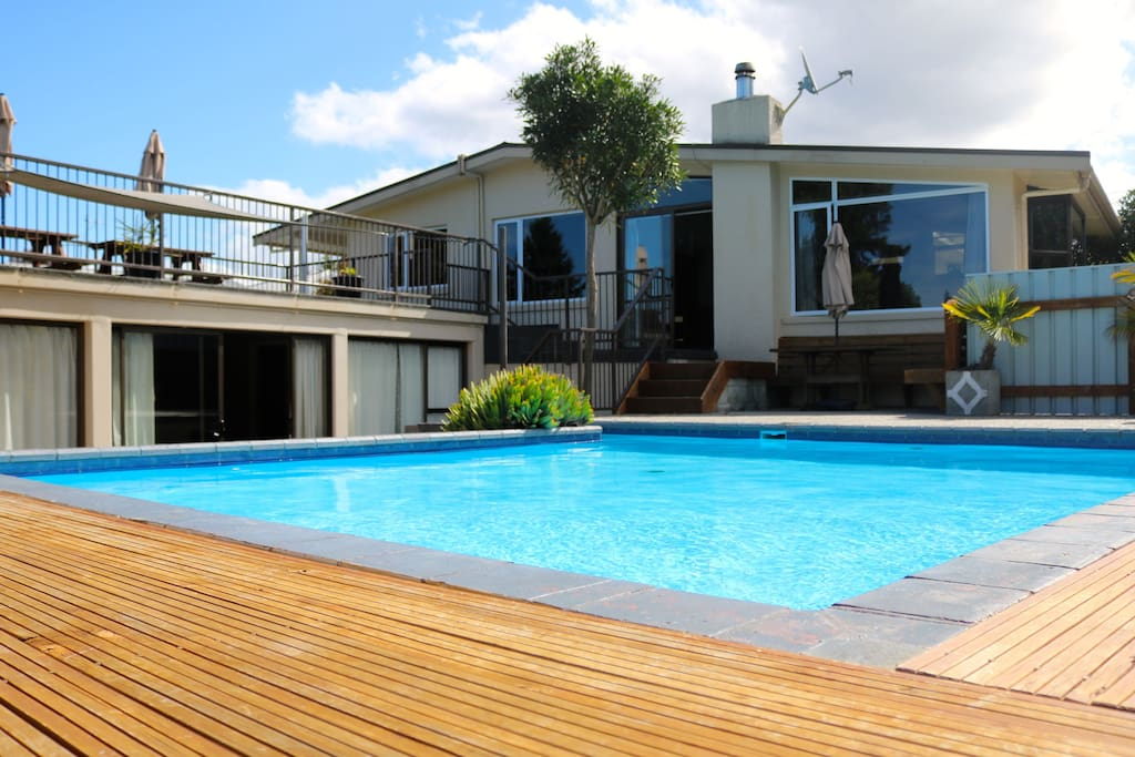 Solar heated pool and plenty of family enjoyment in the games room