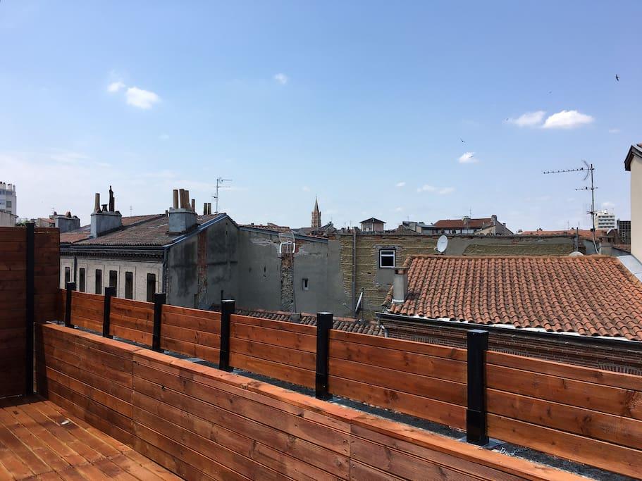 vue sur les toits de toulouse