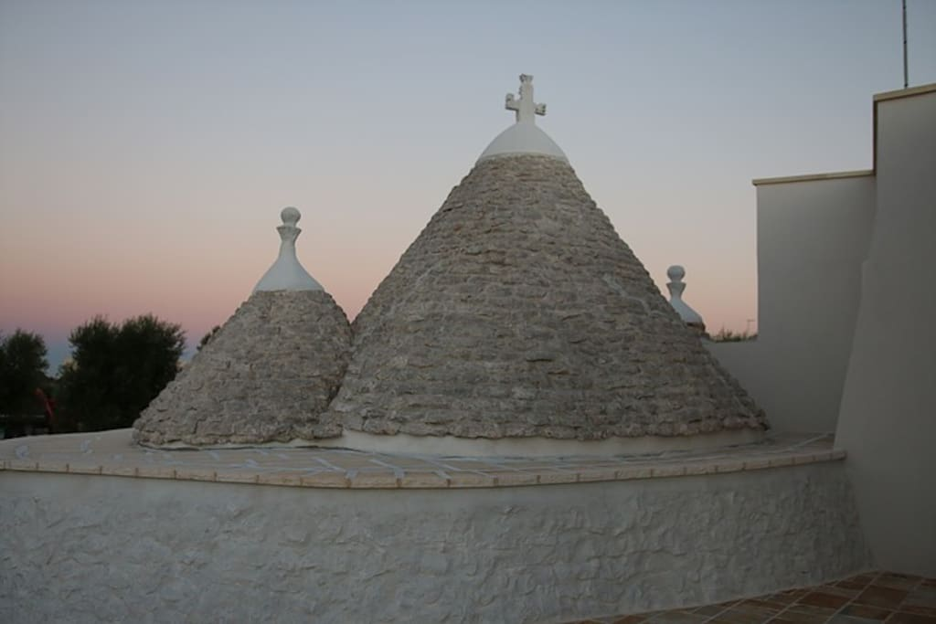 Trullo Lily's cones at sunset.