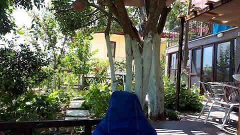 Azmak nehrine yakın huzurlu tatil mekanı