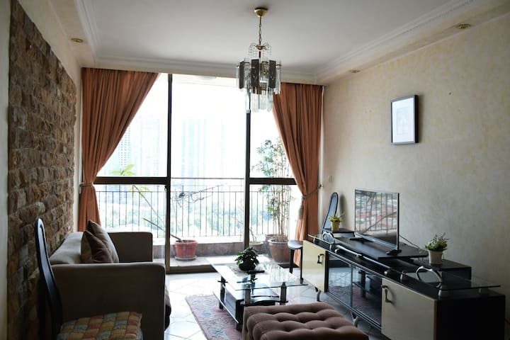 2 BR Simple Flat in Downtown, near Central Jakarta