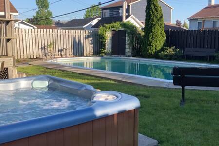 Maison, piscine creusée privée +Jacuzzi extérieur