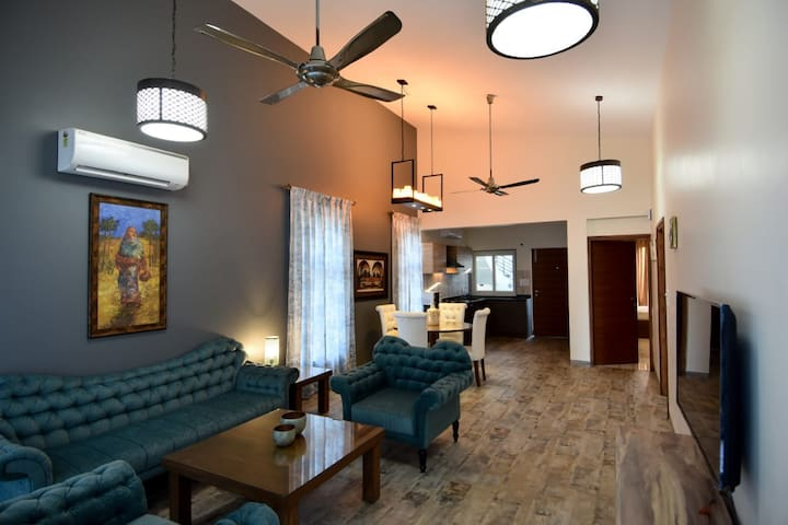 Designer  2 BHK Penthouse in North Goa with Pool