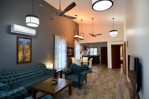 Ático de diseño  2 BHK en North Goa con piscina