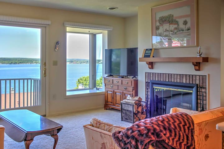 2BR Dewittville Condo w/ Lovely Lake Views & Deck!