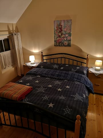 For the autumn and winter time we changed our bed cloth to the very warm and cozy old style flannel ......