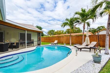 Wonderful 4 bedroom home with pool & patio