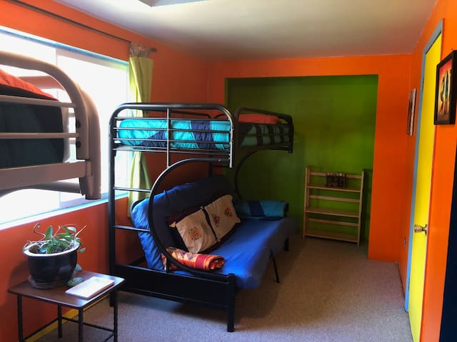Crossroads: Hostel-Style, bunk room twin top bunk