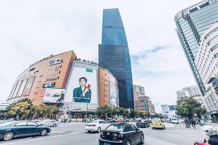 现代日式简约全新装温馨一居室公寓,地铁2/3/4号线,中山公园~天山商业圈中间