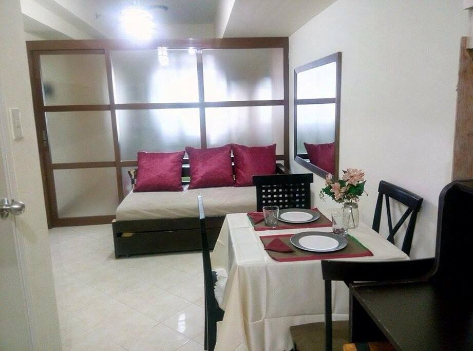 with sofa bed and pull out bed