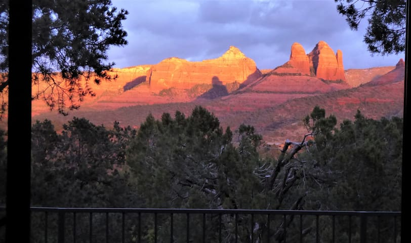 Awesome sunset views from the bedroom and private deck!