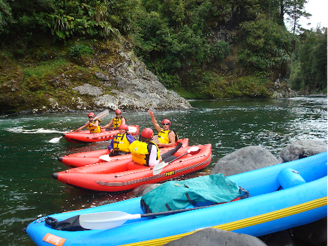 Kayaking with Adventure Outdoors Tongariro
