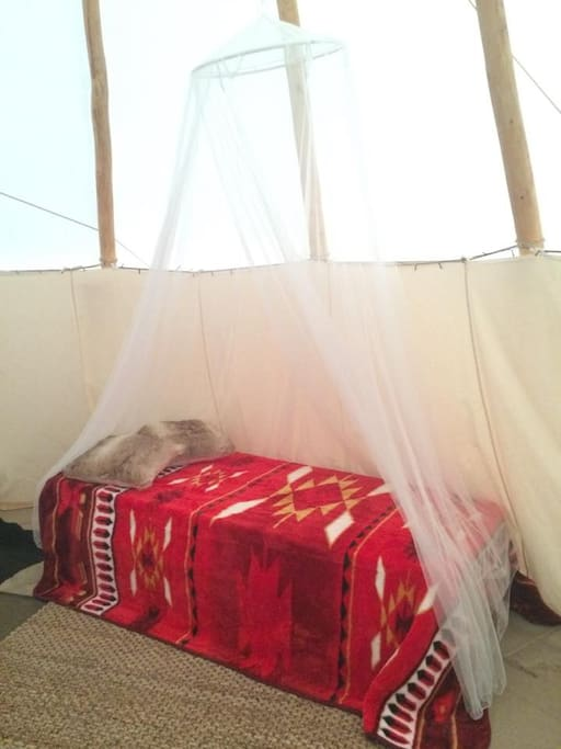 All beds have mosquito nets