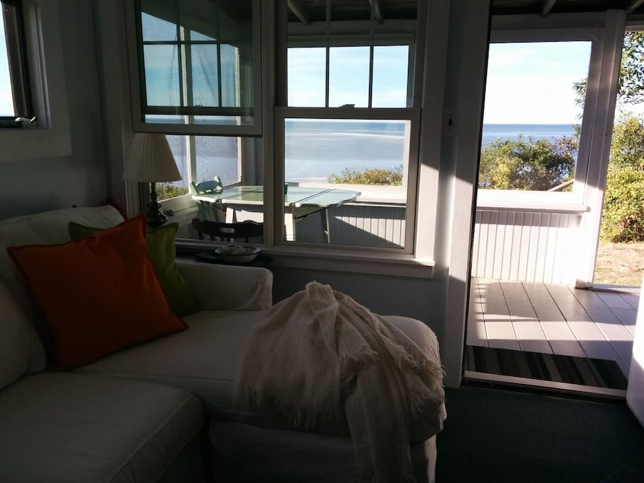 Beach Living. Amazing views from your cottage on a Private beach
