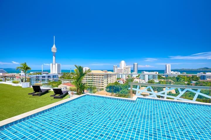 Water Park 7th floor sea view!!