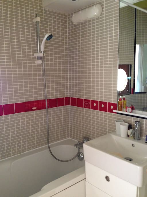 bathroom with shower (separate loo)