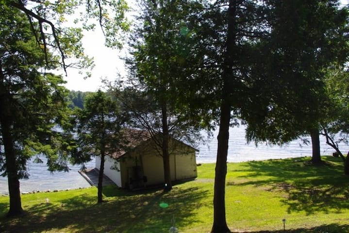 Our private waterfront - photo from up by the house