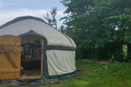 Yurt by River Wreake