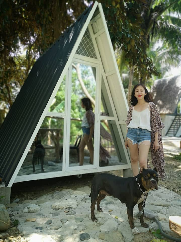 Glass Teepee Tiny House by the River and Mountains