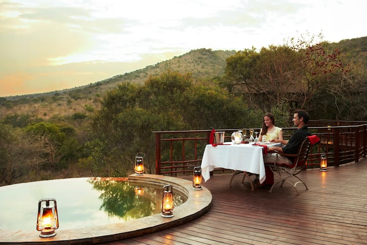 Relaxing Safari Getaway with Infinity Pool