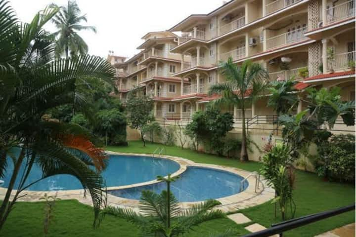 Beautiful Green Peaceful 1BHK near Baga Beach