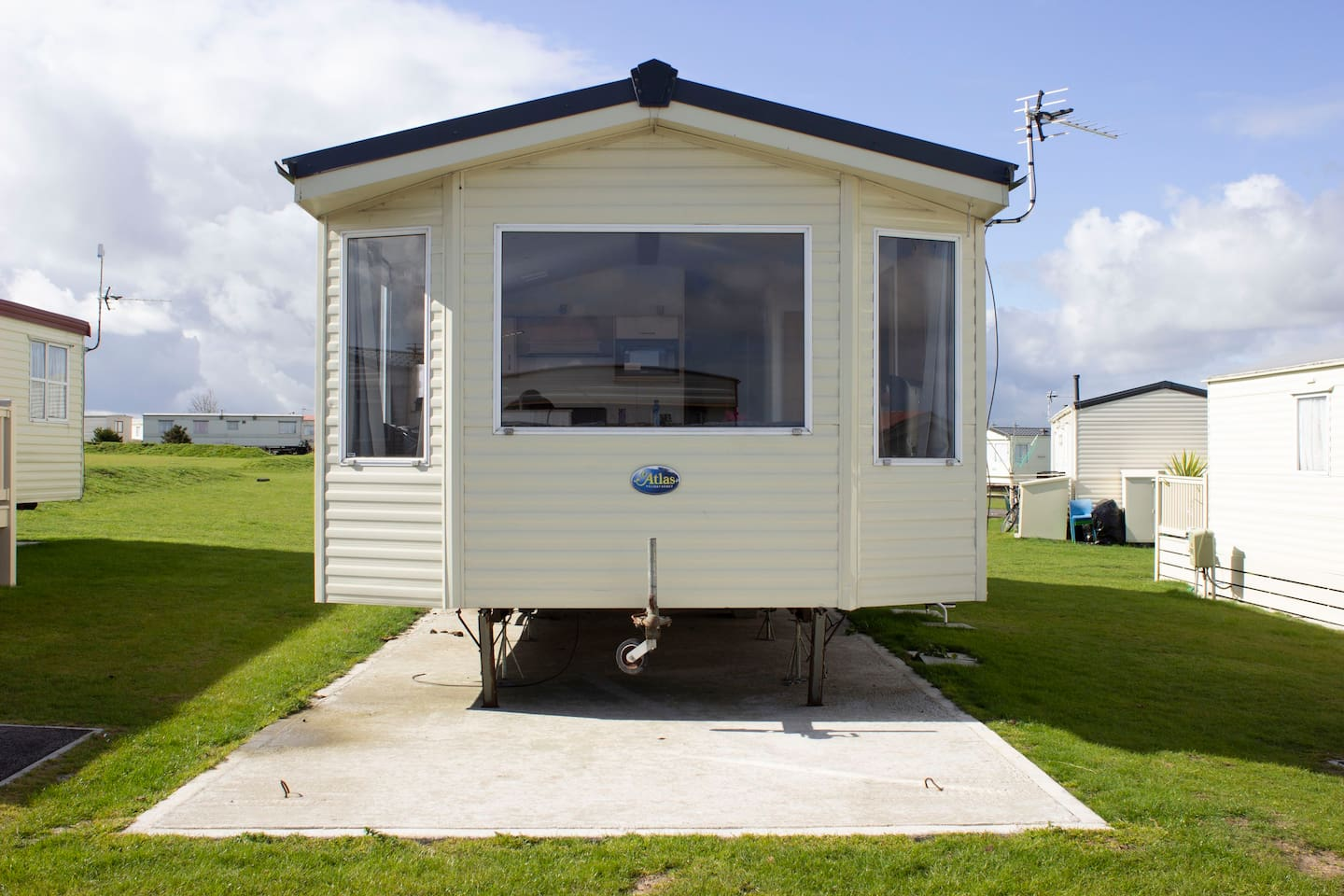Here is a picture of the front view of our Moonstone  Caravan
