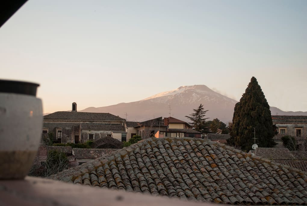 Etna's view from the house