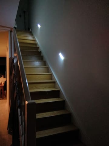 The Staircase - now with motion detection lighting for safety and convenience.