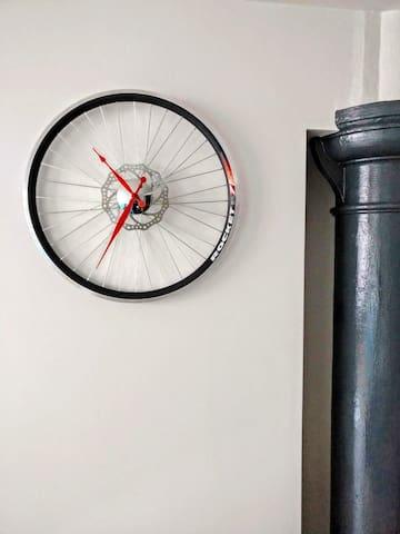 Clock and column