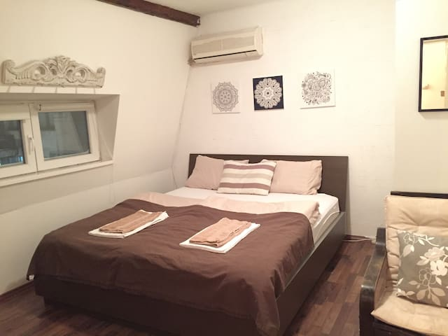 Renovated bedroom with new comfy double bed