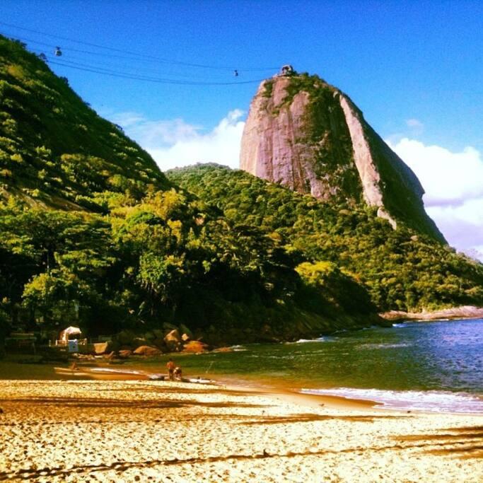 Just 5 minutes walking to Praia Vermelha beach and Sugar loaf !