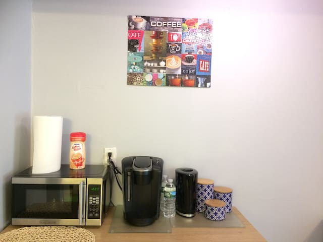 Microwave, Coffee Maker, Electric Kettle