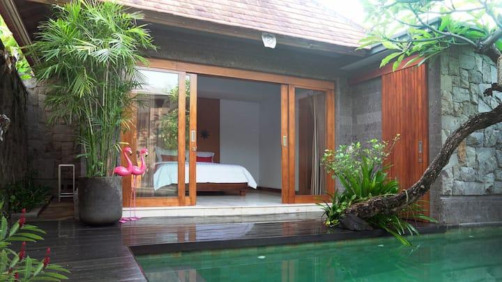 ubud 1 BR private villa, riverside & jungle view