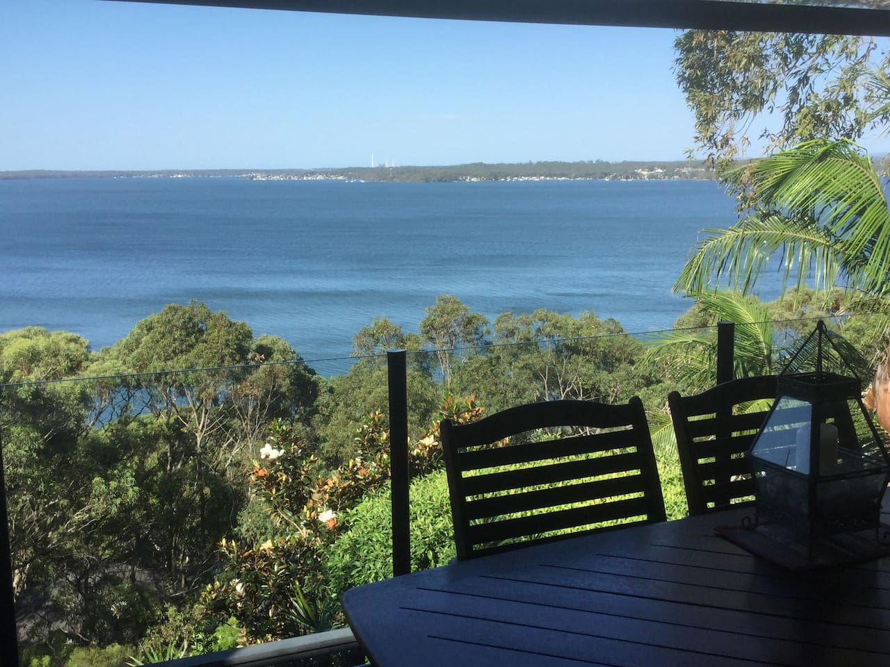 View Lake Macquarie from deck