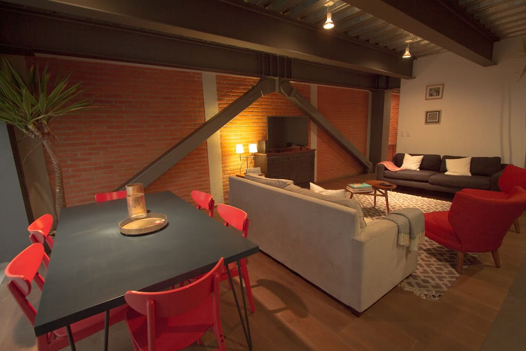 The spacious living room is ideal for you to relax after a long day of sightseeing in this great City.