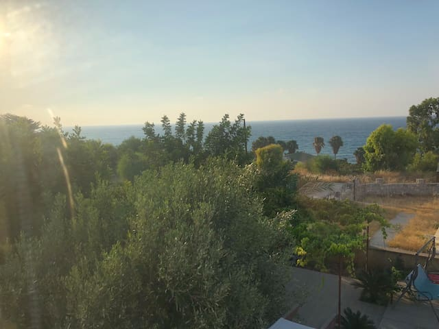 View from the house. Close to the sea.