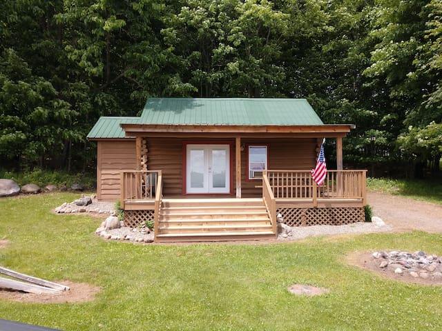 Tamarack log cabin