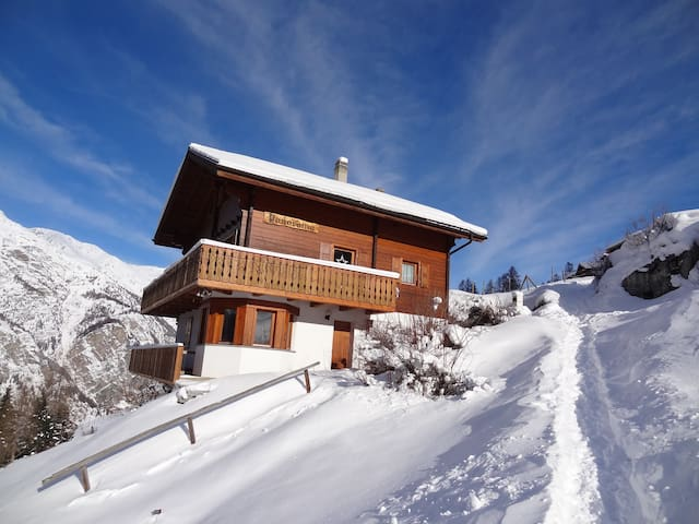 Chalet Panorama - cosy apartment in nature - Sankt Niklaus - Hytte (i sveitsisk stil)