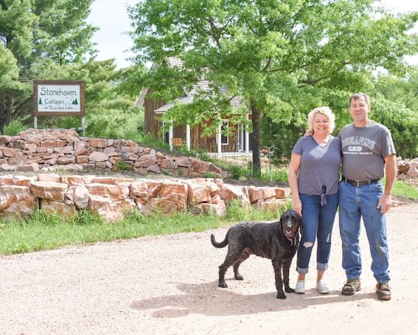 Ted and Lori welcome you to Stonehaven Cottages on Tuscobia Lake LLC. :)