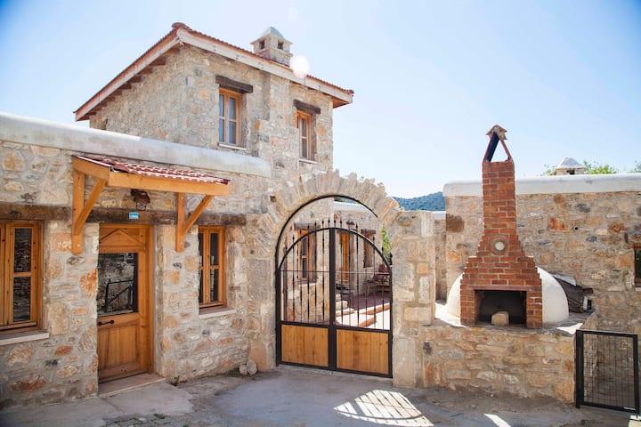 Cumalı Köy'de; Palamutbükü'ne 5dk; teraslı taş ev