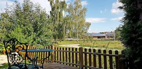Casa de férias tranquila e luminosa com jardim no Lauter