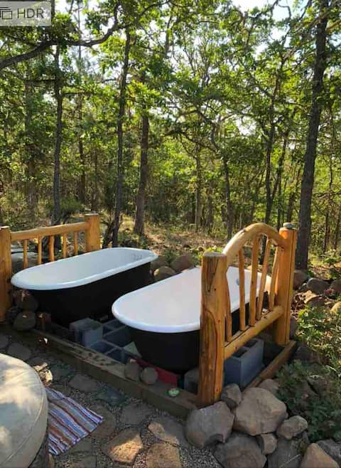 """Yurt Haven,  """"The Bathhouse"""" Is A Safe Haven"""