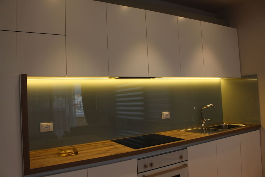 interior lighting in the kitchen