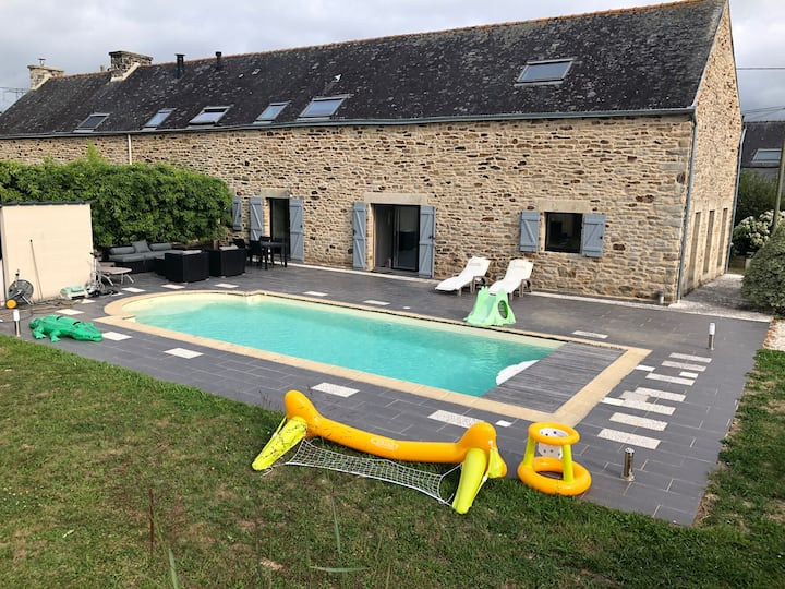 Longère avec piscine campagne Morbihan