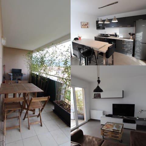 Appartement F2 neuf avec terrasse - Ajaccio